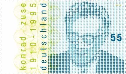 Konrad Zuse Briefmarke von 2010