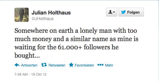 Mehr Follower Als Bushido, Aber Keine Relevanz: Die Seltsame Geschichte Von @jholthaus