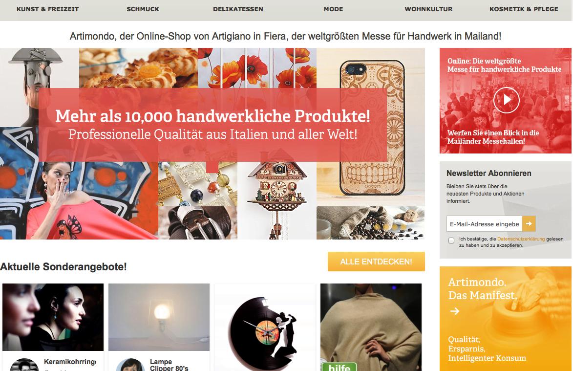 "Artimondo.de: E-Commerce-Marktplatz ""Made In Italy"" Schafft Zugang Zu 800 Handverlesenen Manufakturen"