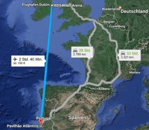 Dublin to Lisbon