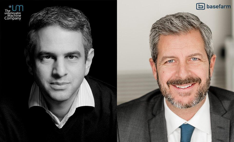 Ravin Mehta (links) Managing Director *um, und Fredrik Ohlsén, CEO Basefarm.