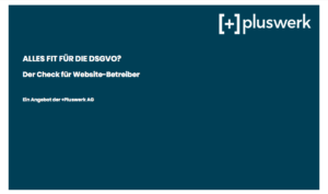 DSGVO Audit Angebot Pluswerk