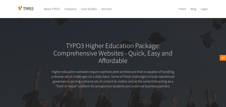 TYPO3 Higher Education Package Vereinfacht Onlinepräsenz Für Hochschulen Weltweit