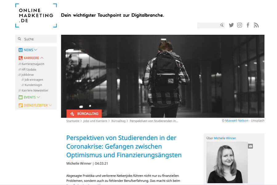 Onlinemarketing.de Screenshot Vom Artikel
